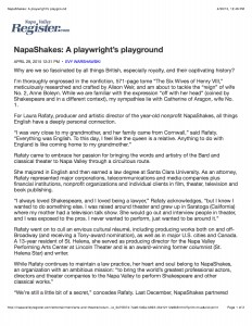 NapaShakes: A playwright's playground